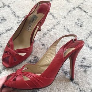 Jimmy Choo Shoes - AUTHENTIC Jimmy Choo Red Heels Size 38